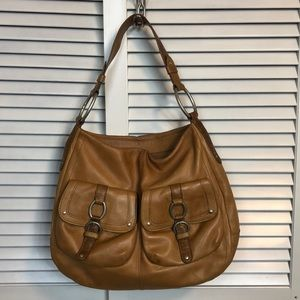 Sigrid Olsen Luggage Tan Leather Hobo Bag